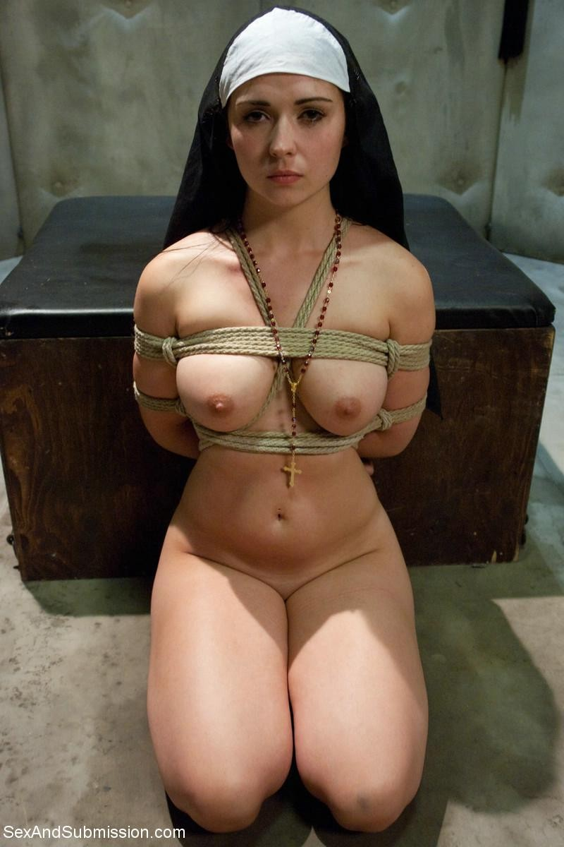 Shameful Nun Tied Up, Punished And Fucked In Every Hole By Pries foto 1